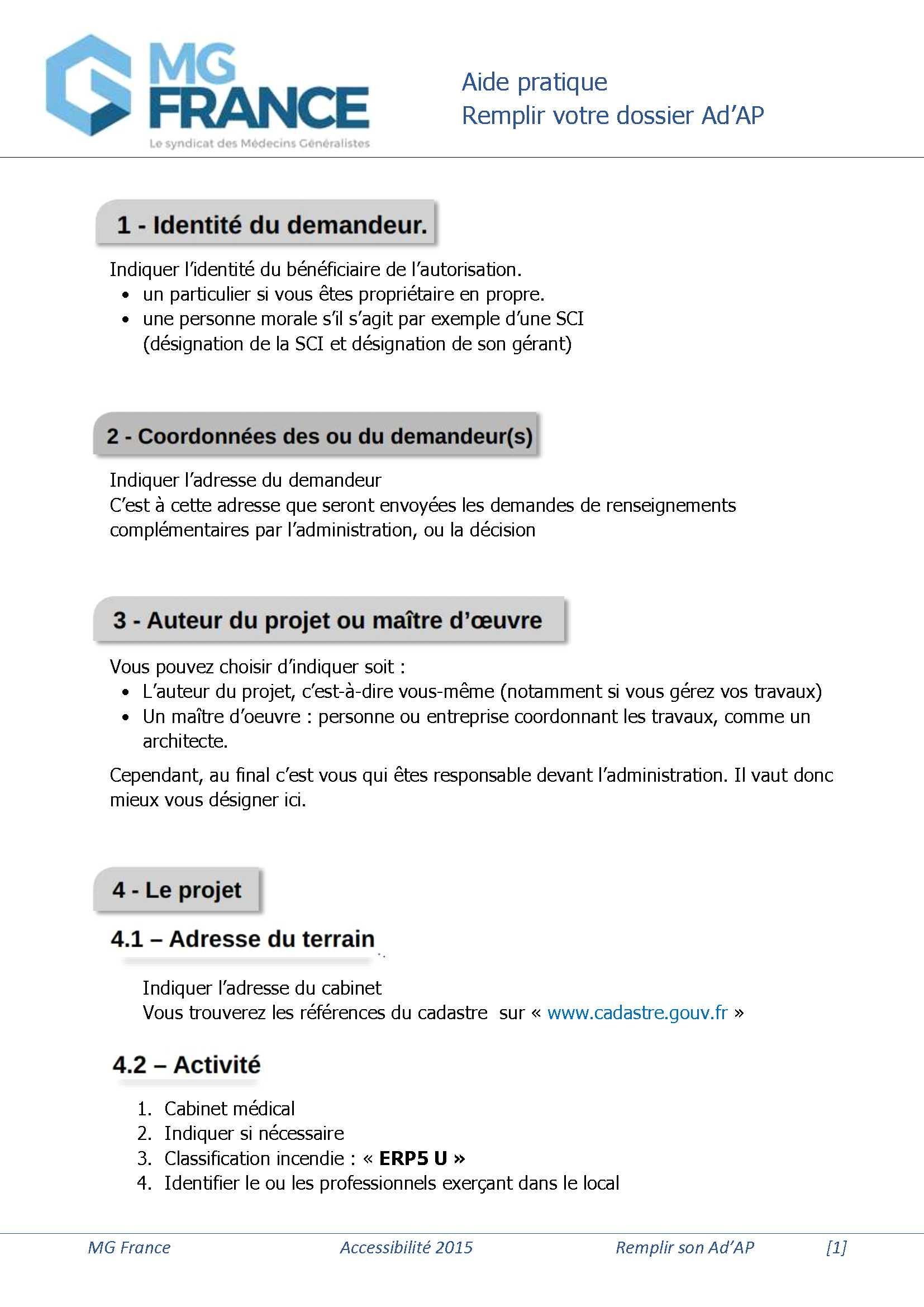 dossier d'AdAP